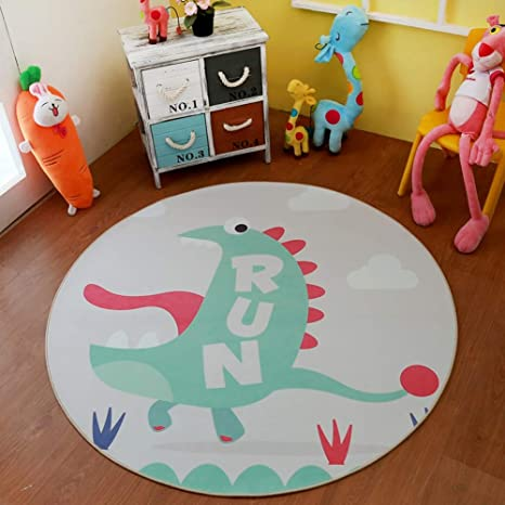 Amazon Co Jp Rug Round Non Slip Carpet Dinosaur Nursery Round Rug Cute Circle Carpet Animal Kids Mats Living Room Multi Style Chambo 1104 Color Y03 Size 5 3 160cm Home Kitchen