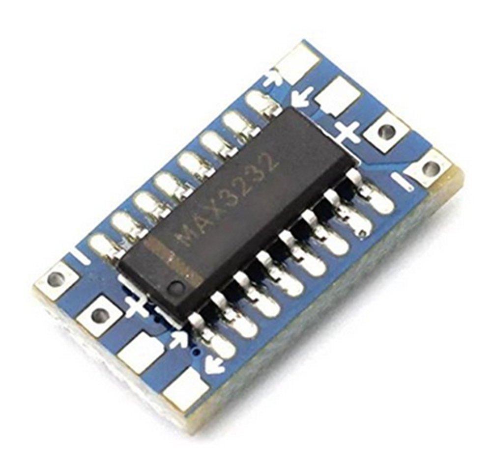 Demarkt Mini-RS232 MAX3232 Ebene zu TTL Ebene Konverterplatine Seriell-Konverter Bord