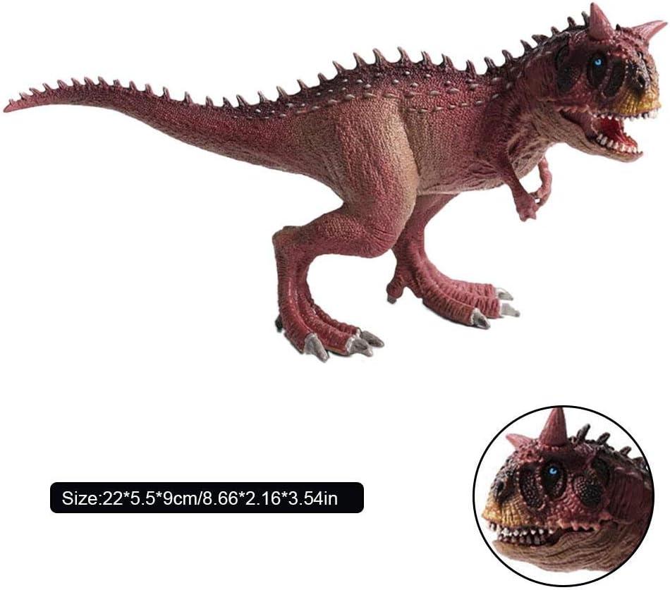 Ploufer Juguete de Dinosaurio, Modelo Carnotaurus, Juguete del Rex del indominus, Modelo Animal sólido, Figuras de Dinosaurios de plástico Grandes