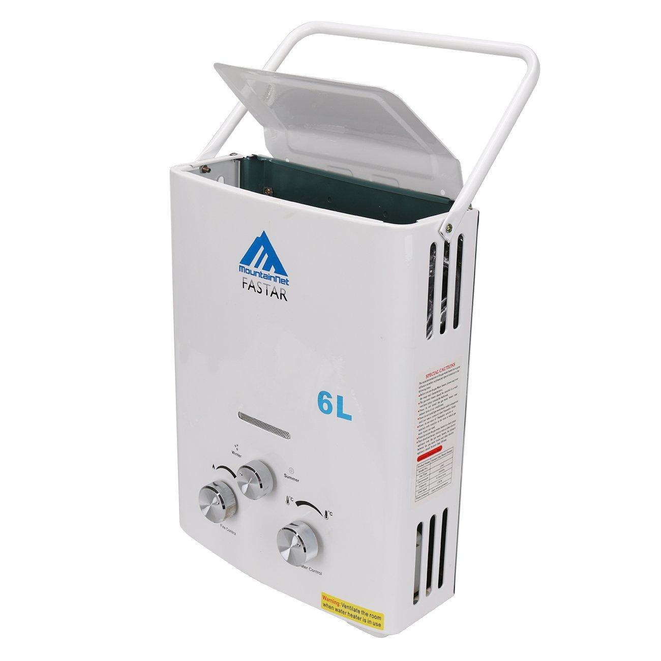 ridgeyard al aire libre portátil 6L (1.6gpm) LP Gas portátil ligero instantáneo calentador calentador de agua caldera y al aire libre ducha + ducha cabeza ...