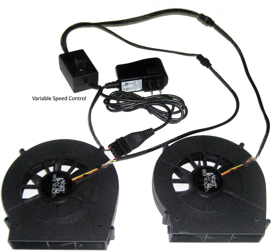 Lite Coolerguys Dual Blower Fan Component Cooler with Manual Speed Control