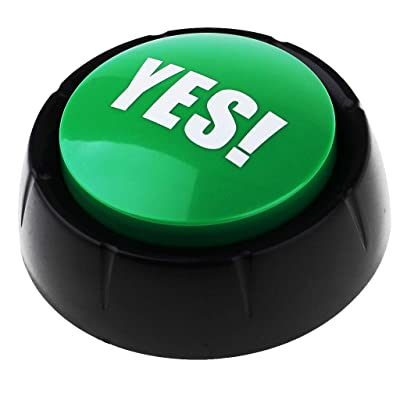 Homyl Botón de Sonido Sound Button para Juego Game Show Buzzers - Verde Yes: Juguetes y juegos