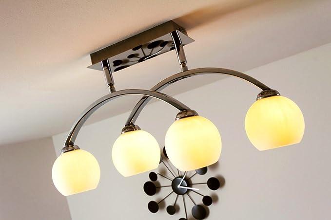 Plafoniere Con Lampade A Risparmio Energetico : Lampada da soffitto bracci e faretti regolabili plafoniera luci
