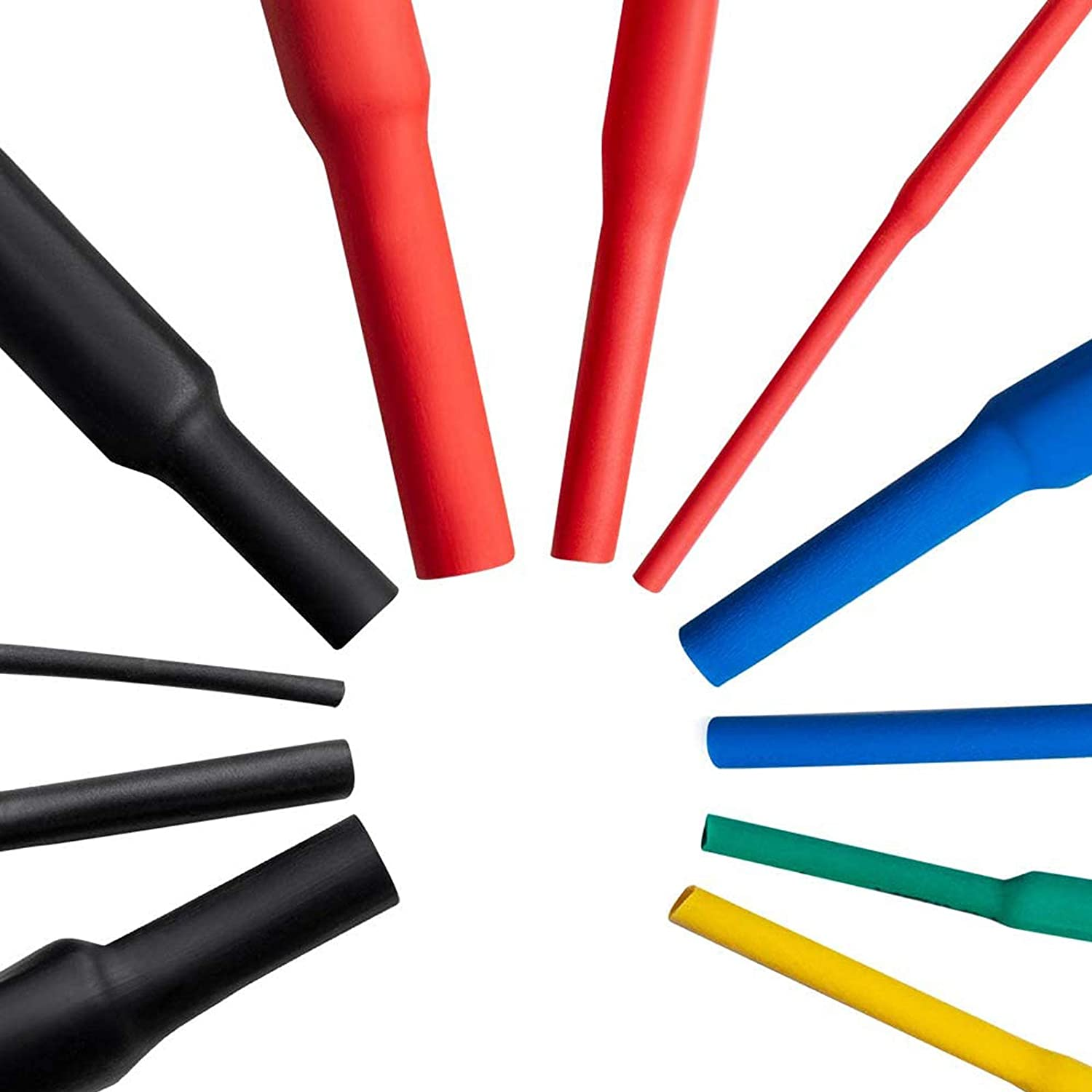 530pcs Lnsulated Heat Shrinkable Tube Heat Shrink Tubes Insulated Wire Cable Sleeving Wrap Shrink Ratio 2 1 Shrink Tube Glue Heat Shrink Color Environmental Protection Flame Retardant Shrink Tube