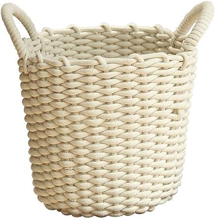 LQ Cesto de Almacenamiento Tejido de algodón Tejido de Almacenamiento Cesto Ropa Sucia Calcetines de Almacenamiento de Ropa Interior Acabado Cesta Cestos para la colada (Size : Style One): Amazon.es: Hogar
