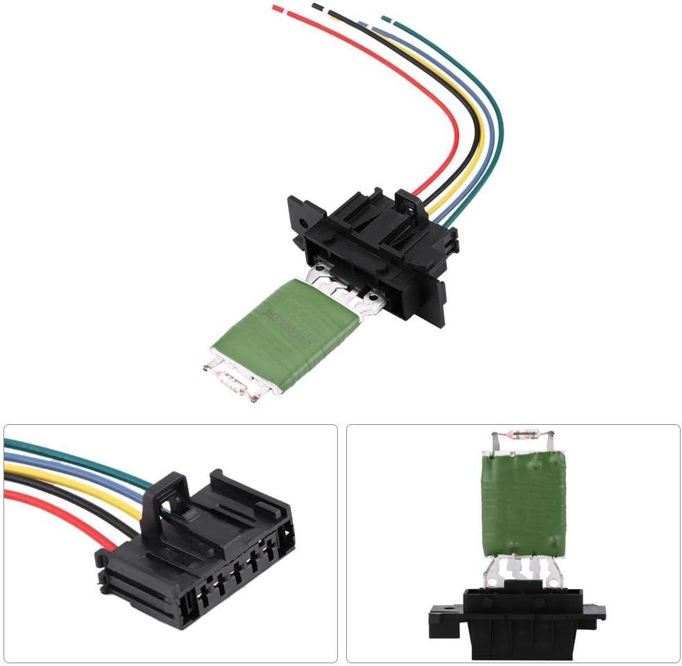 Regulador del ventilador resistencia del ventilador del ventilador del motor del calentador con arn/és de enchufe de reparaci/ón de cableado para Grande Punto Qubo