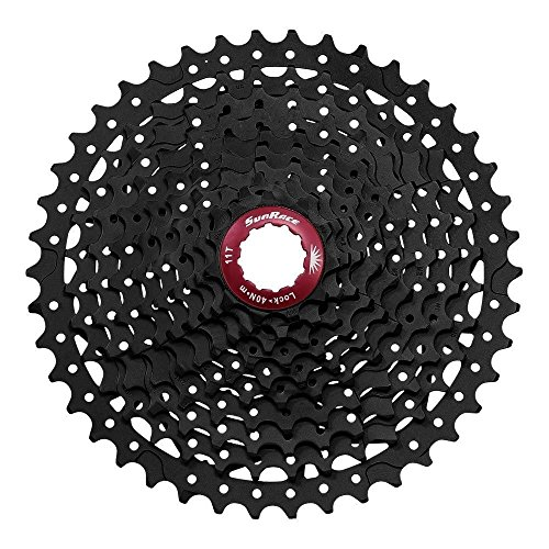 SunRace MX3 Mountain Bike Bicycle Shimano 10 Speed Cassette 11-46T Black ()