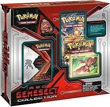 Pokemon Red Genesect Box - Caja para Cartas coleccionables ...