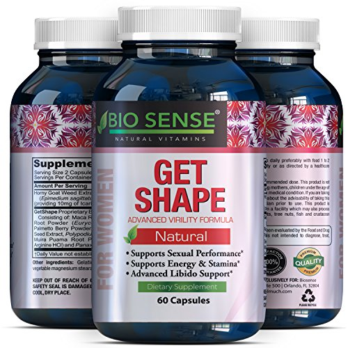 Pure & Potent Breast Enhancer Supplements - Contains Ginseng + L Arginine - Improve Shape Without Surgery - Breast Enlargement Pills - Boost Your Bust - Avoid Weight Gain Elsewhere - Biosense