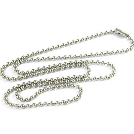Sungpunet 10 piezas de acero inoxidable 75 cm cadena de bolas militares perro etiquetas collar DIY accesorios mascotas suministros