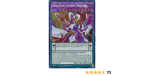 Odd-Eyes Venom Dragon NM 1x Yu-Gi-Oh BLLR-EN006 1st Edition Secret Rare