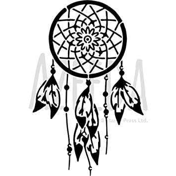 azeeda a5 dreamcatcher wall stencil template ws00027708