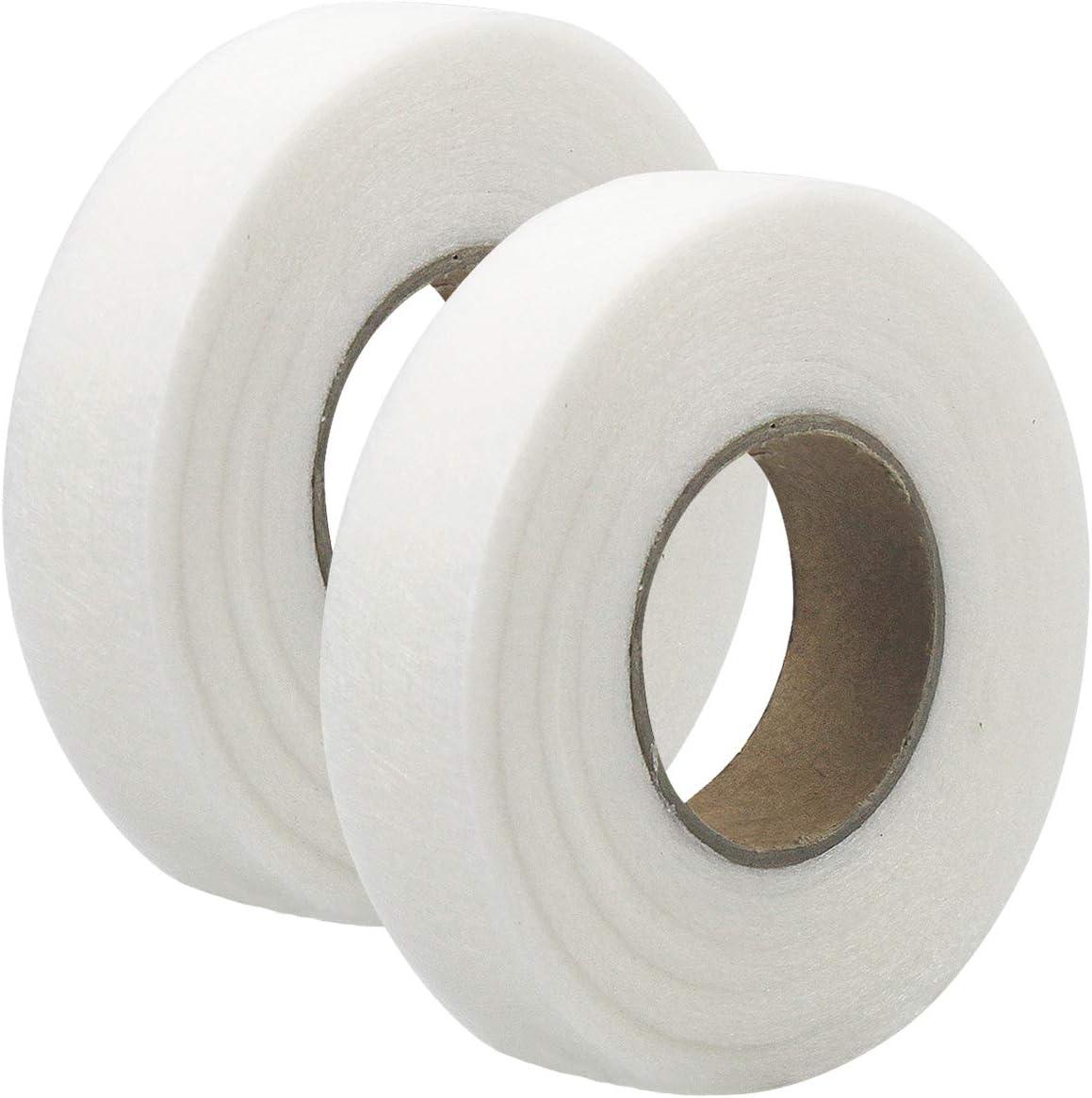 Netspower 140 Yard Iron On Hem Tape Hemming Web Tape Fabric Fusing Tape Adhesive Iron-on Tape White No Sewing Hem Tape for Clothes Jeans Seaming Bonding