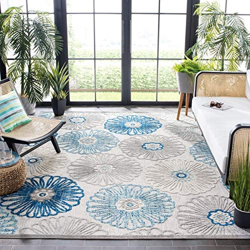 Safavieh Cabana Collection CBN801F Floral Indoor/ Outdoor Non-Shedding Stain Resistant Patio Backyard Area Rug
