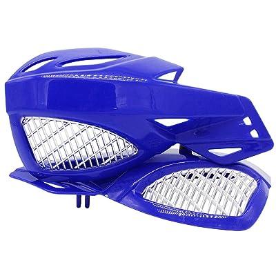 "Lozom 7/8"" Motorcycle Handguards Handlebar Hand Guards Brush Bar Protector For Motocross Supermoto Racing Dirt Bike ATV (Blue): Automotive"