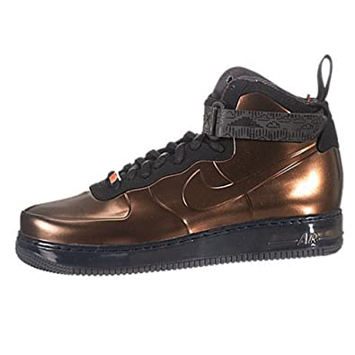 Men's - Nike Air Force 1 Foamposite BHM Metallic Cppr / Metallic Cppr-Black Shoes