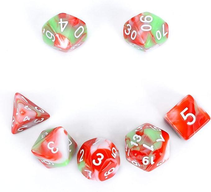 FLASHOWL Juego de Dados poliédrico D&D para Juegos de rol Dungeons ...