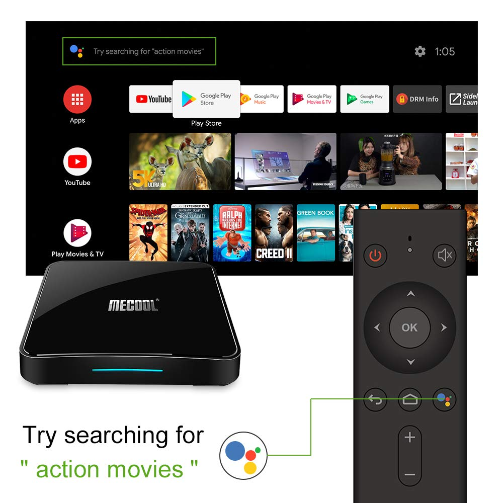 Amazon.com: Mecool TV Box, KM3 Android 9.0 4K TV Box with ...