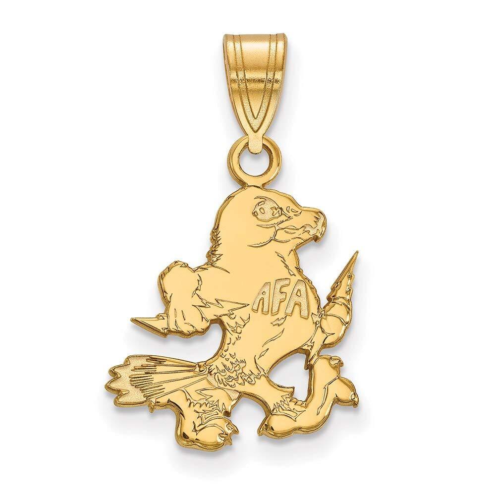 Lex /& Lu LogoArt 14k Yellow Gold United States Air Force Academy Medium Pendant LAL136541