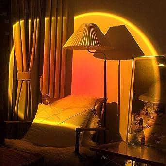 Izihooqi Night Light Projector Led Sunset Lamp Sunset Red Sunset Night Light for Home Party Bedroom Living Room Decor 180 Degree Rotation Rainbow Projection Light