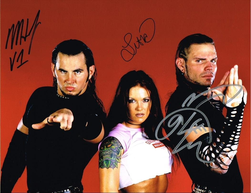 Wwe tna jeff hardy autographed 11x14 photo auto signed autograph - Wwe Jeff Hardy Matt Lita Team Extreme Autographed 11x14 Photo Signed Autograph Autographed Wrestling Photos At Amazon S Sports Collectibles Store