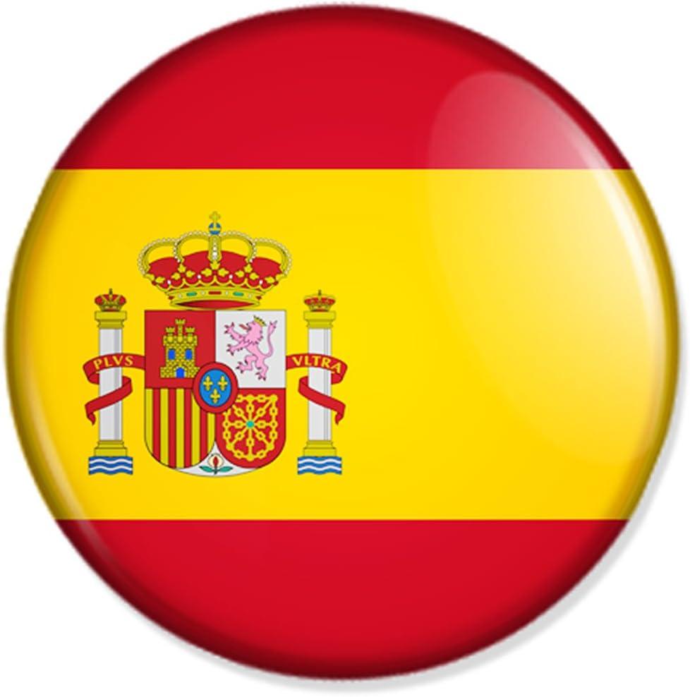 Button bandera - España Badge, España Pin, diseño de la bandera de ...