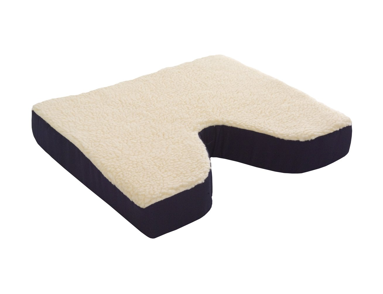 Essential Medical Supply Fleece Covered Coccyx Cushion, 16 Inches X 16 Inches X 3 Inches