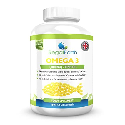 Omega 3 de aceite de pescado Complex 180 cápsulas blandas para los hombres y de las