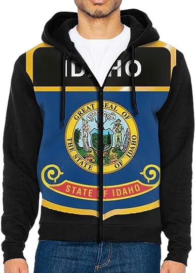 Flag of Oklahoma Mens Full-Zip Hoodie Jacket Pullover Sweatshirt