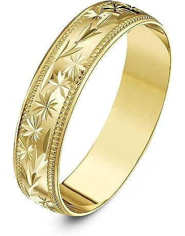 1e48e0501542 Theia Anillo de Bodas de Oro Amarillo o Oro Blanco