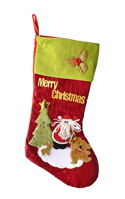 large felt christmas stockings 18inch santa christmas stockings for party decorations gifttreat bags christmas - Funny Christmas Stockings