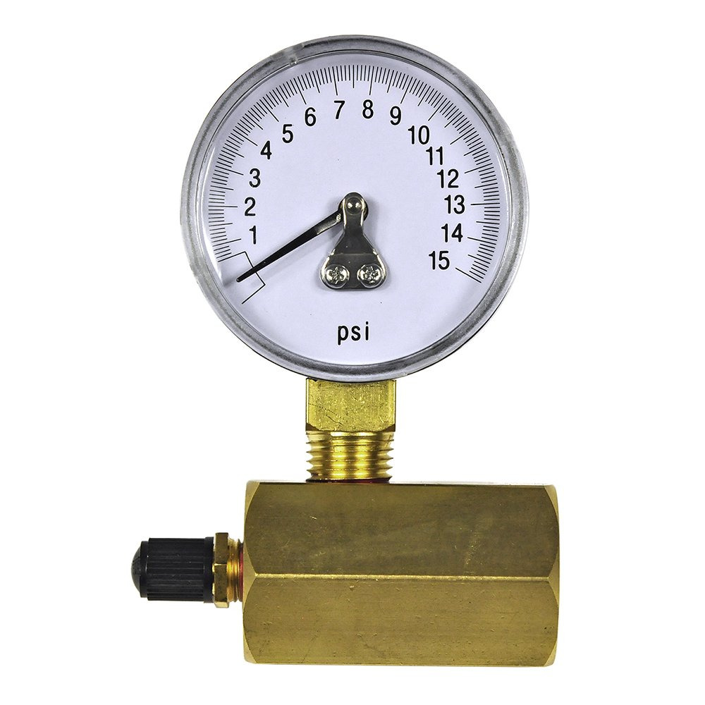 94352 Danco Gas Test Gauge for 0-15 psi at 1//10 Increments Chrome-Plated