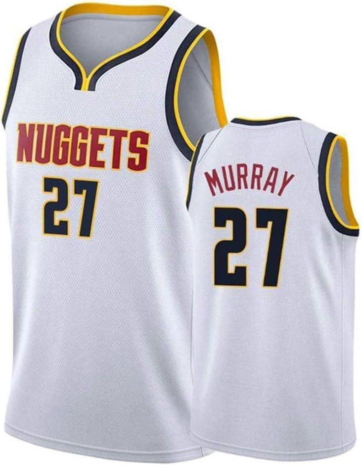 Denver Nuggets Nueva Tela Alero sin Mangas de la Camisa de los Jerseys Jamal Murray Jersey # 27 del Baloncesto de los Hombres