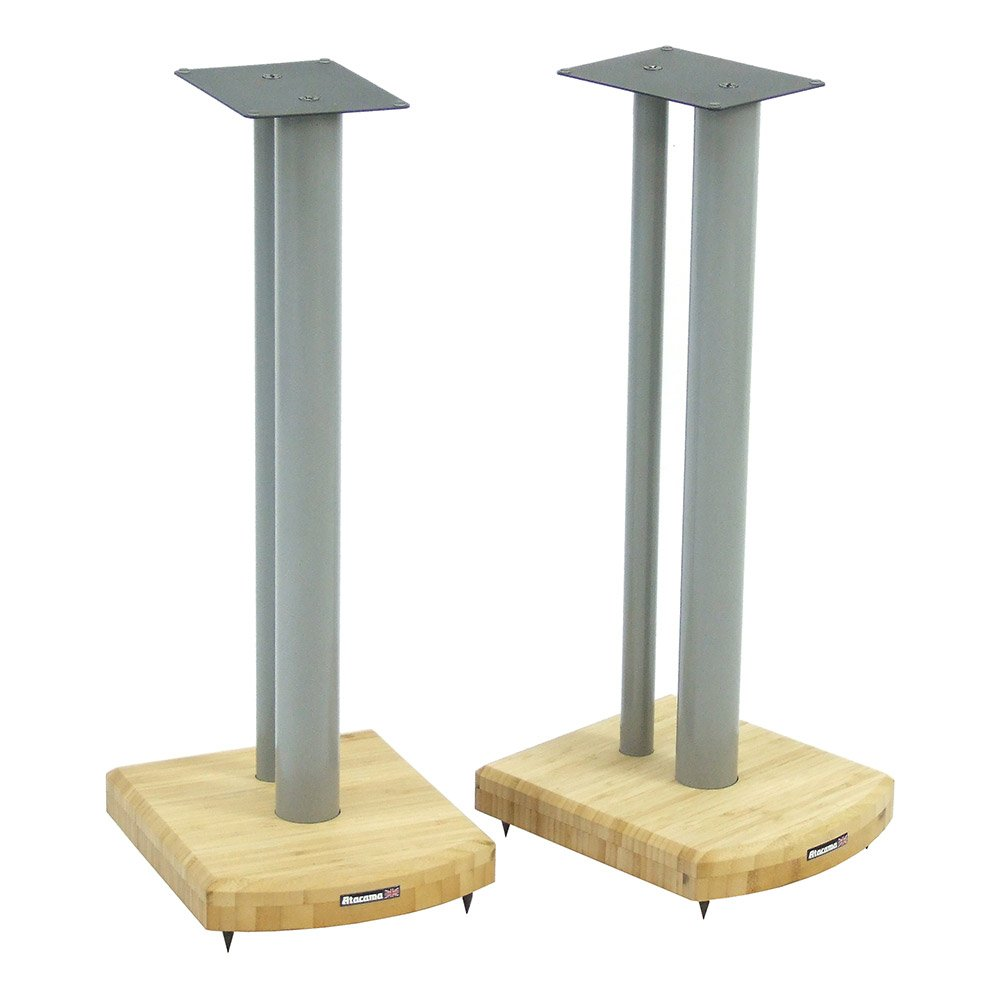 Atacama Moseco 6 Speaker Stands (Silver/Natural Bamboo)