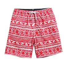 ME-JUCA Mens Swim Trunks With Pocket High Printed Board Shorts S