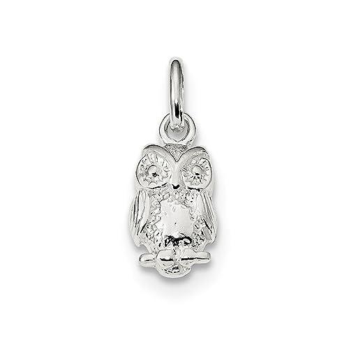 cab414636df4 Collar con colgante de búho de plata de ley 925