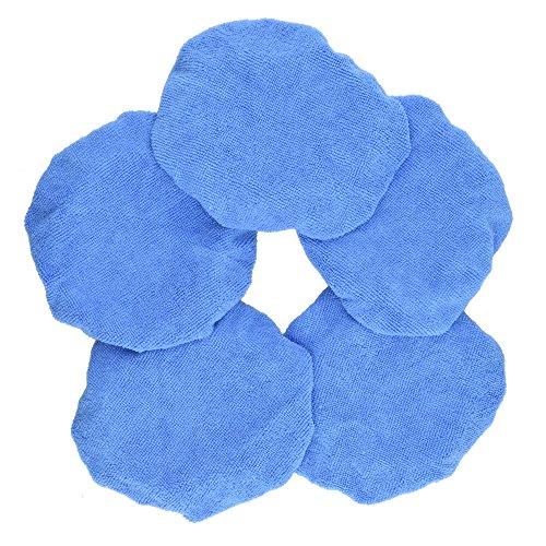 8 Inch Polishing Bonnet - Blue Microfiber Car Polisher Pad Bonnet Polishing Bonnet Buffing Pad Cover For Car Polisher Pack of 5Pcs 5-6 7-8 9-10 (7-8