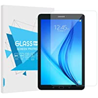 """TiMOVO Samsung Galaxy Tab E 9.6"""" Screen Protector, Ultra Clear Hardness Tempered Glass Screen Protector Bubble-Free Anti-Scratch Film for Samsung Galaxy Tab E 9.6 Inch Tablet, Clear"""