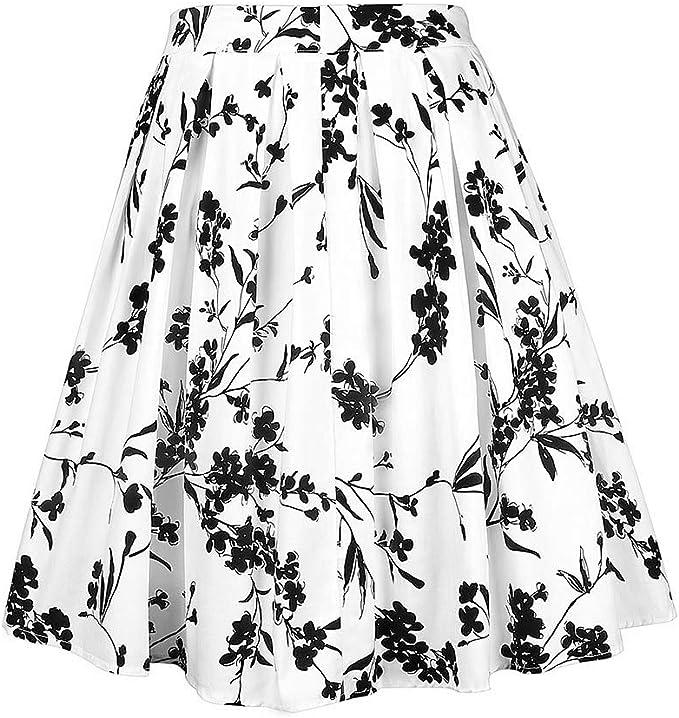 Faldas Mujer Verano Imprimir Falda Plisada impresión de Navidad ...