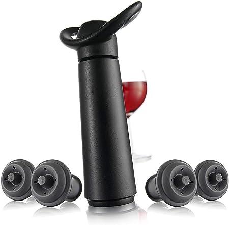 Sistema indicador de vacío patentado,No apto para vinos espumosos,Preserva botellas de vino abierta
