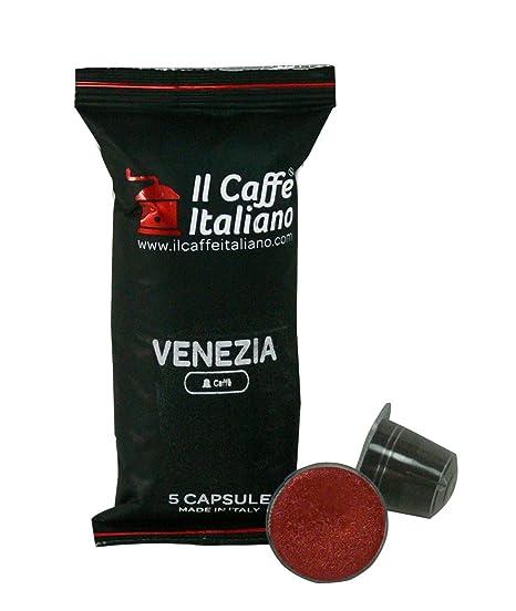 100 Cápsulas de Café compatibles Nespresso sabor Café Venezia, 100 Cápsulas compatible con maquinas Nespresso