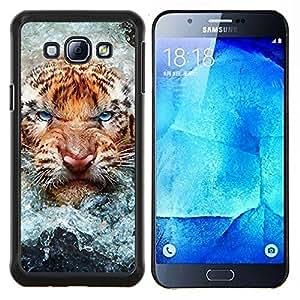"""Be-Star Único Patrón Plástico Duro Fundas Cover Cubre Hard Case Cover Para Samsung Galaxy A8 / SM-A800 ( Angry Tiger Cat agua Naturaleza Animal"""" )"""