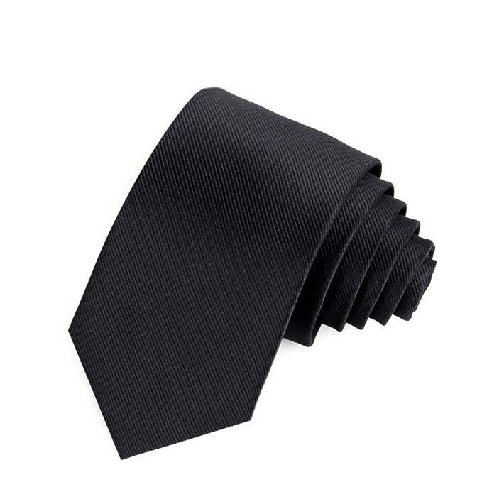 Corbata slim skinny para hombre, Tira de Color sólido Lunares ...