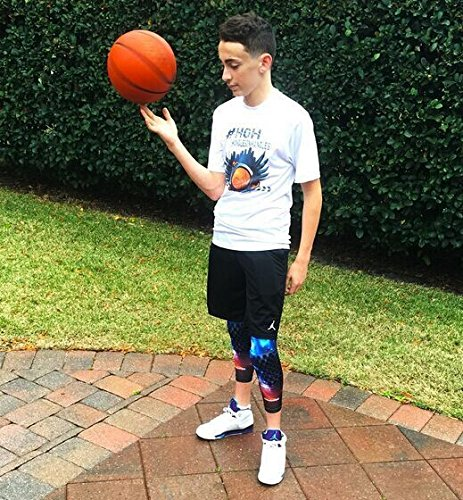 Coolomg Pair Basketball Knee Pads For Kids Youth Adult Nebula