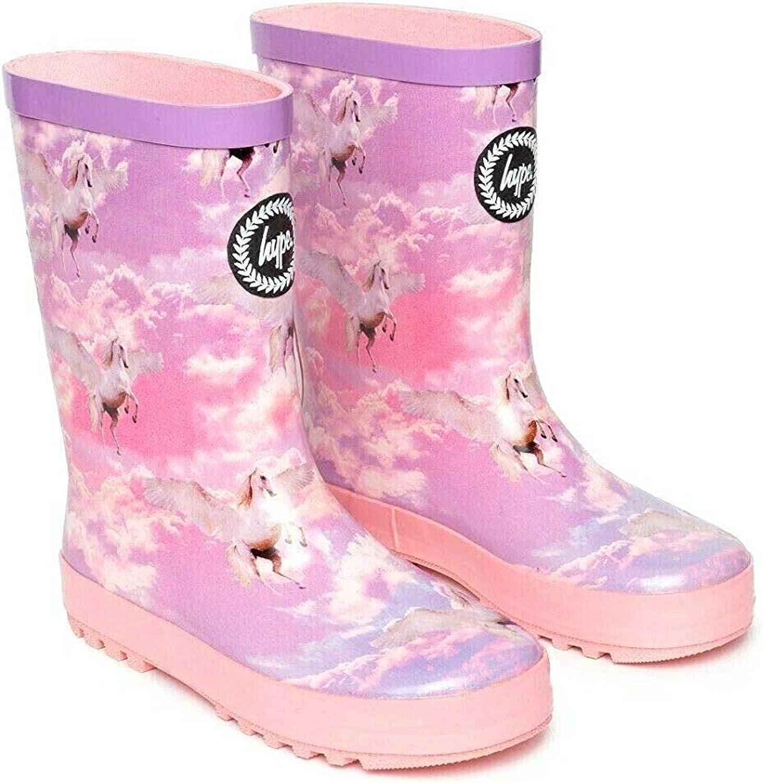 hype Girls Junior Pink Unicorn Wellies