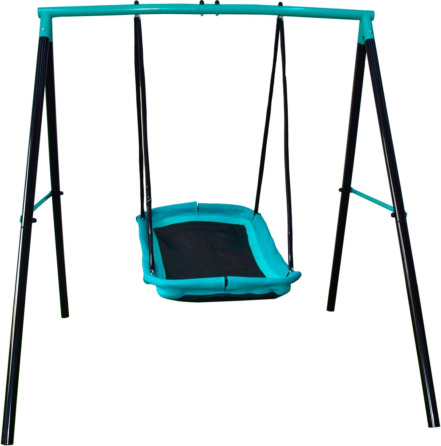 Swing Sets for Backyard, Sturdy Steel Frame for Up to 2 Children Saucer Swing with Frame Toddler Swing with Stand