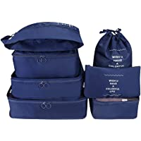 SKY-TOUCH 7Pcs SET Travel Luggage Organizer Packing Cubes Set Storage Bag Waterproof Laundry Bag Traveling Accessories