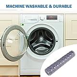 Wimaha XL Bathtub Mat, Bath Shower Mat Non Slip for Bathroom, Machine Washable, Ideal for Kids Toddler Senior, 39 x 16, Clear Grey