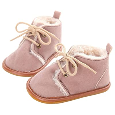 Amiley Baby Toddler Infant Snow Boots Shoes Rubber Sole Prewalker Crib Shoes