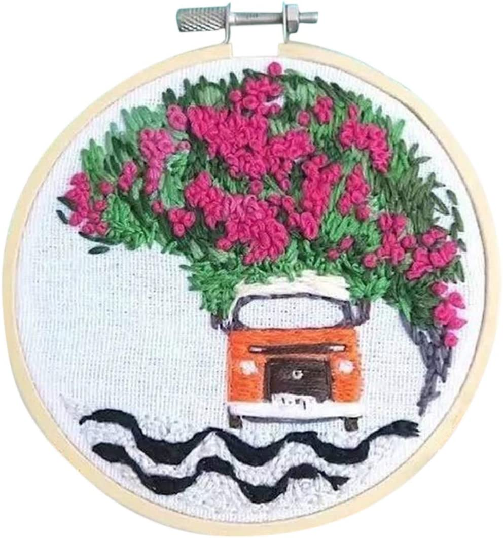 PeleusTech DIY Rug Hooking Kit Punch Needle Starter Kit DIY Wool Rug Punch Kit Knitting with Punch Needle Embroidery Frame